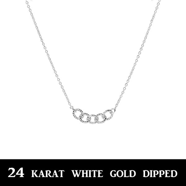 14 K gold dipped Dainty Chain Link  Necklace