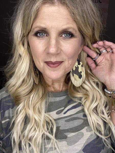 Double camo earrings