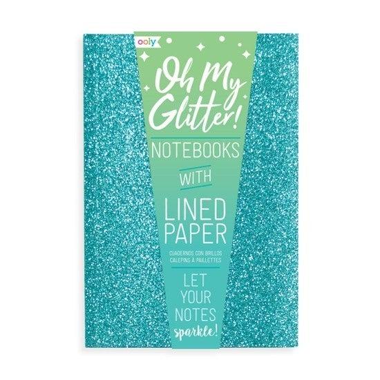 Set of 3 glitter notebooks