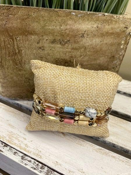 3 strand metal stretch bracelet