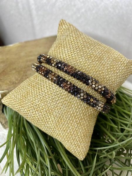 Leopard Bling Magnetic Bracelet