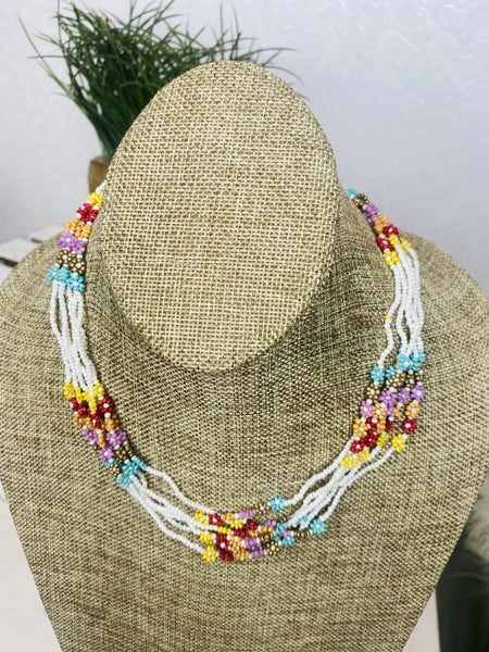 Summer Fun Beaded Strand Necklace