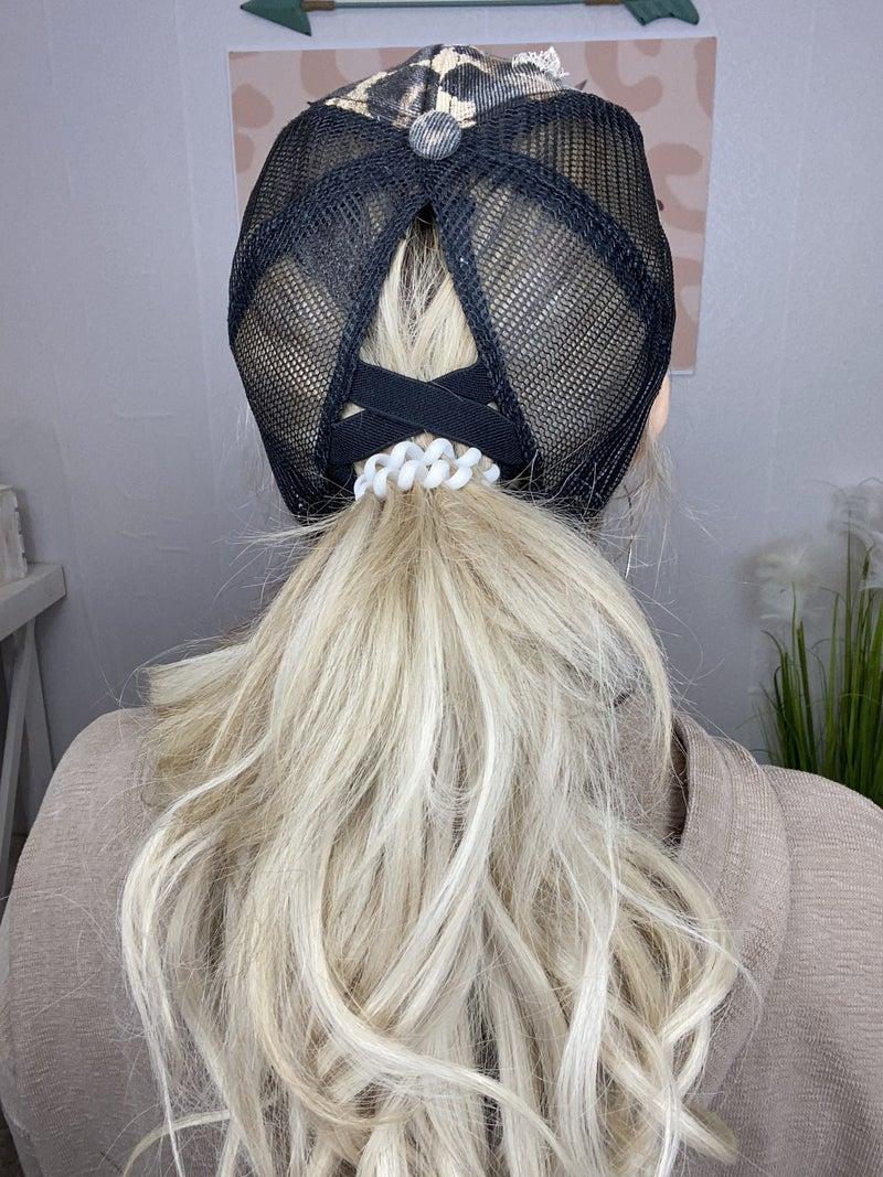 Distressed Ponytail ballcap