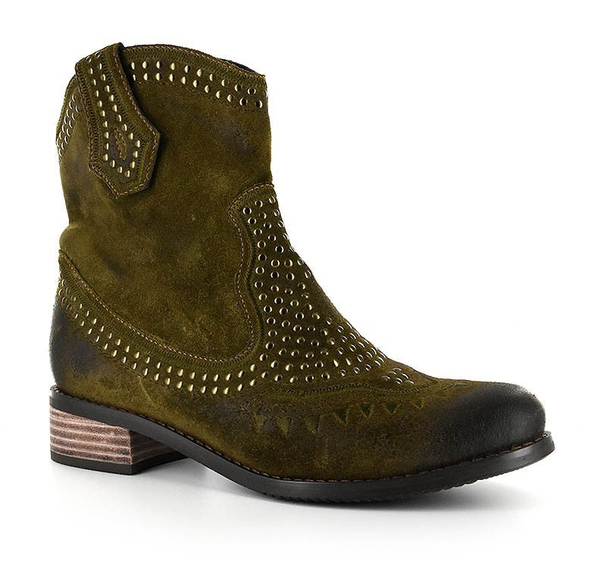 Olive Genuine leather boot by Corkys