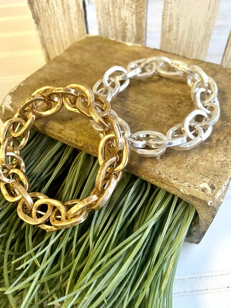 Stretch Chain Link Bracelet