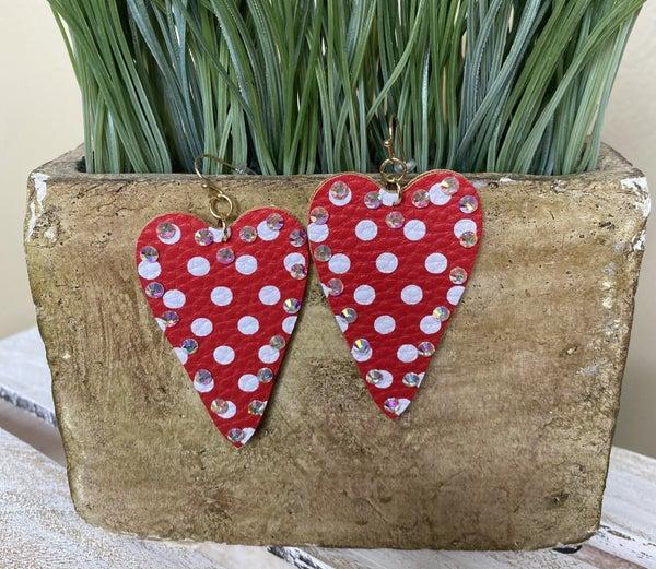Polka Heart Earrings