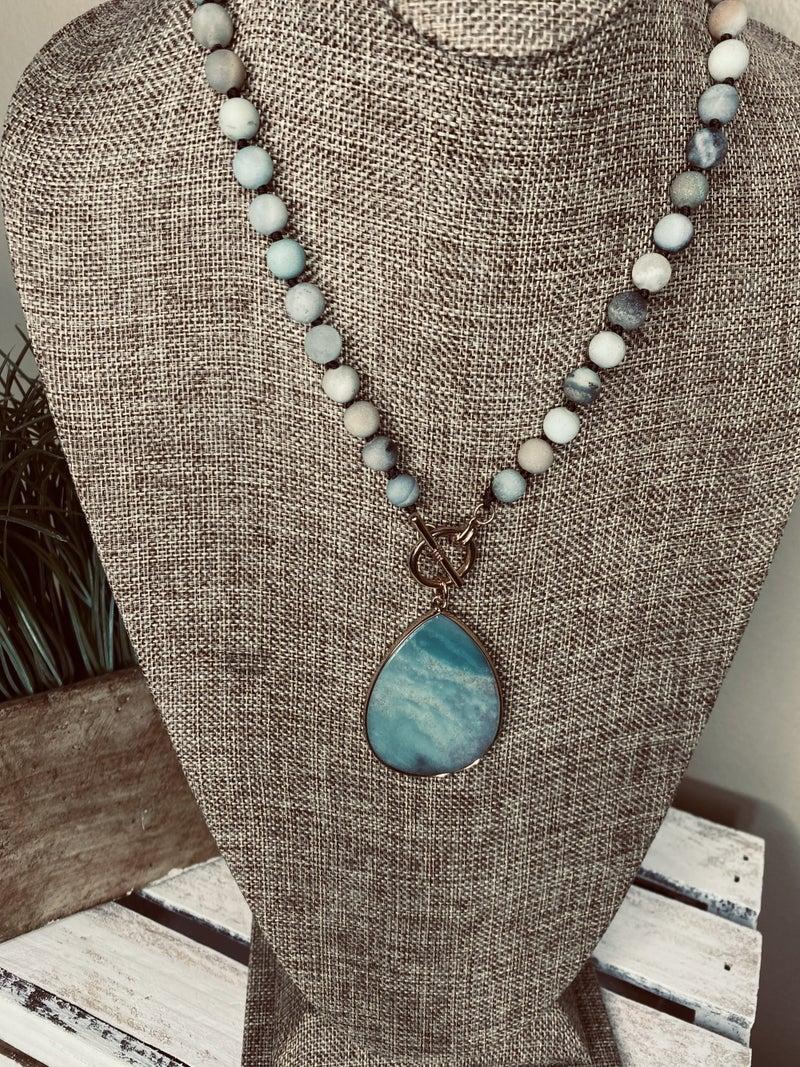 Semi-precious Teardrop necklace