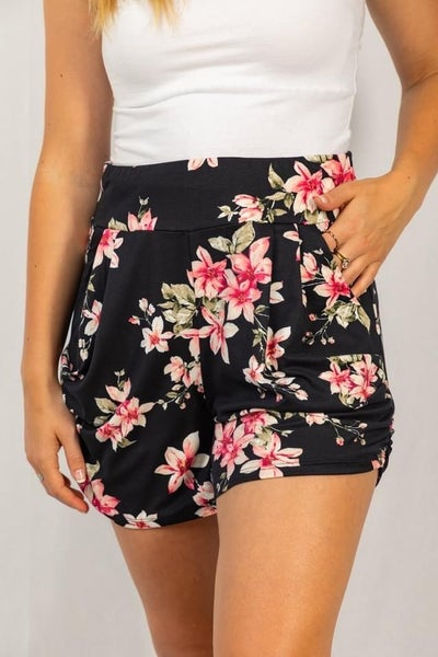 Floral Harem Shorts by White Birch