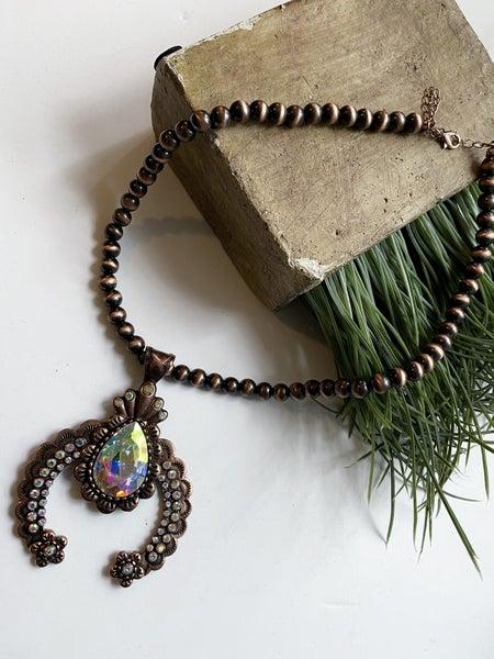 Copper Statement Horseshoe necklace