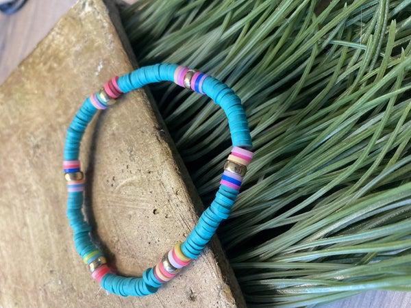 Summer Vibes Disc Stretch Bracelet