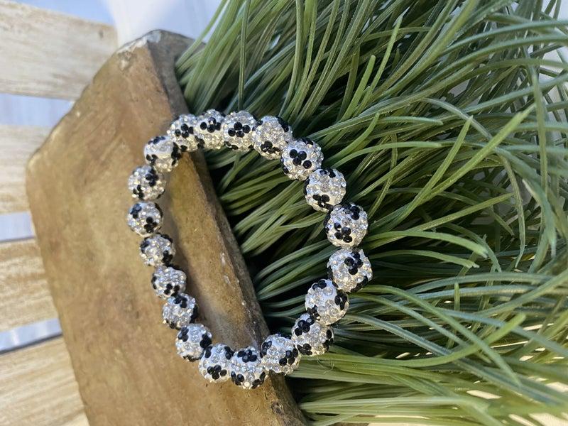 White Cheetah Stretch Bracelet