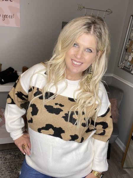 Cuddle Up Leopard Sweater