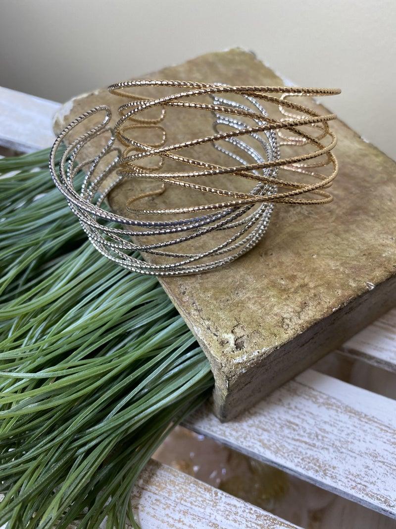 Caged cuff bracelet