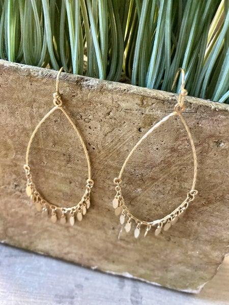 Teardrop Dangle Fringe earrings