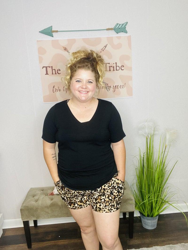 Leopard Harem Shorts