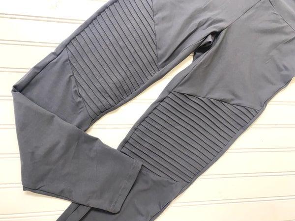 Gray Moto leggings