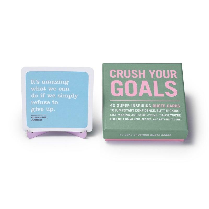 Crush Your Goals box of quotes