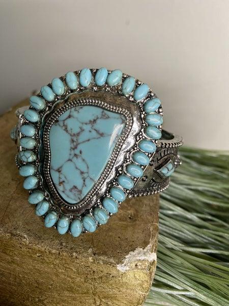 Turquoise Stretch Cuff bracelet