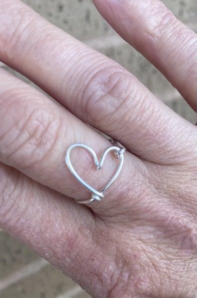 Heart Rings - handmade from Aluminum