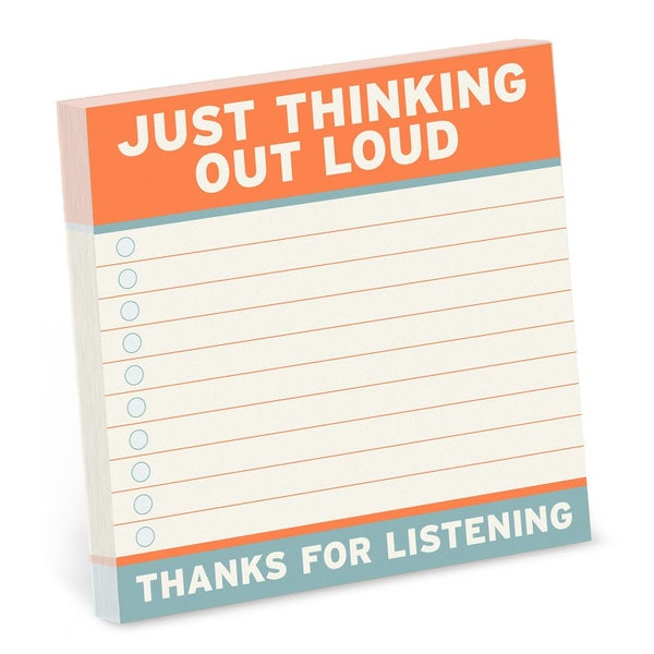 4x4 Thinking out loud note pad