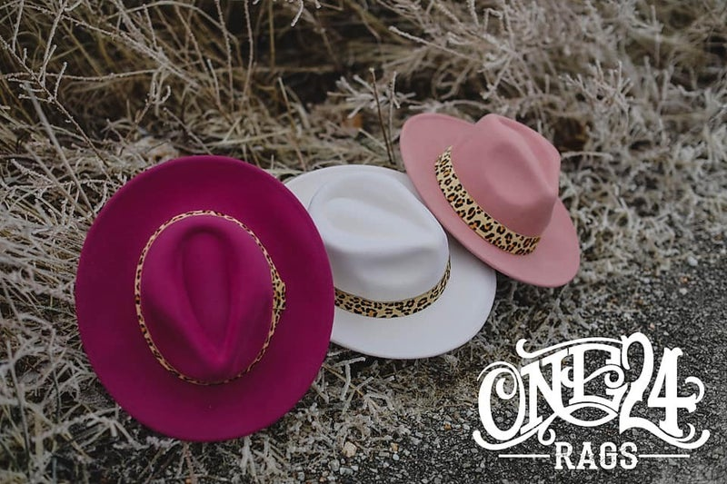 PRE-ORDER Spring hats with leopard bands