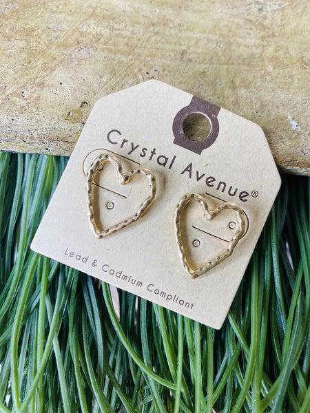 Irregular Heart Beat Earrings