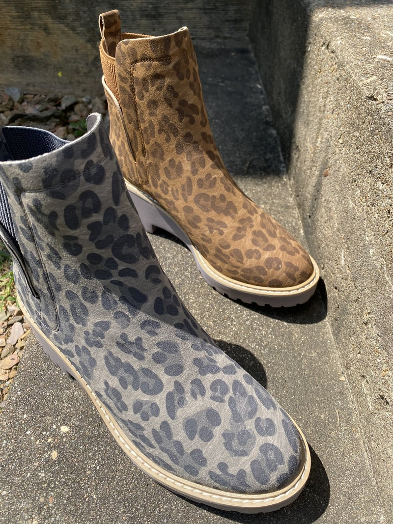 Leopard Wedge Boot by Corkys