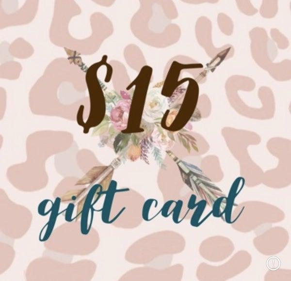 $15 Tribe Tender Gift Card