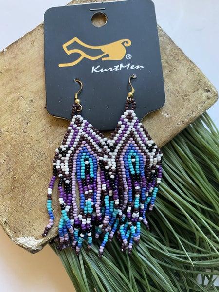Purple Rain beaded earrings