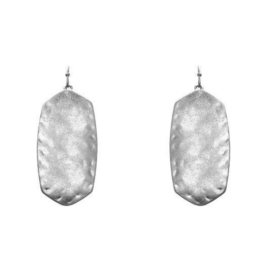 Hammered Look Pendant earrings