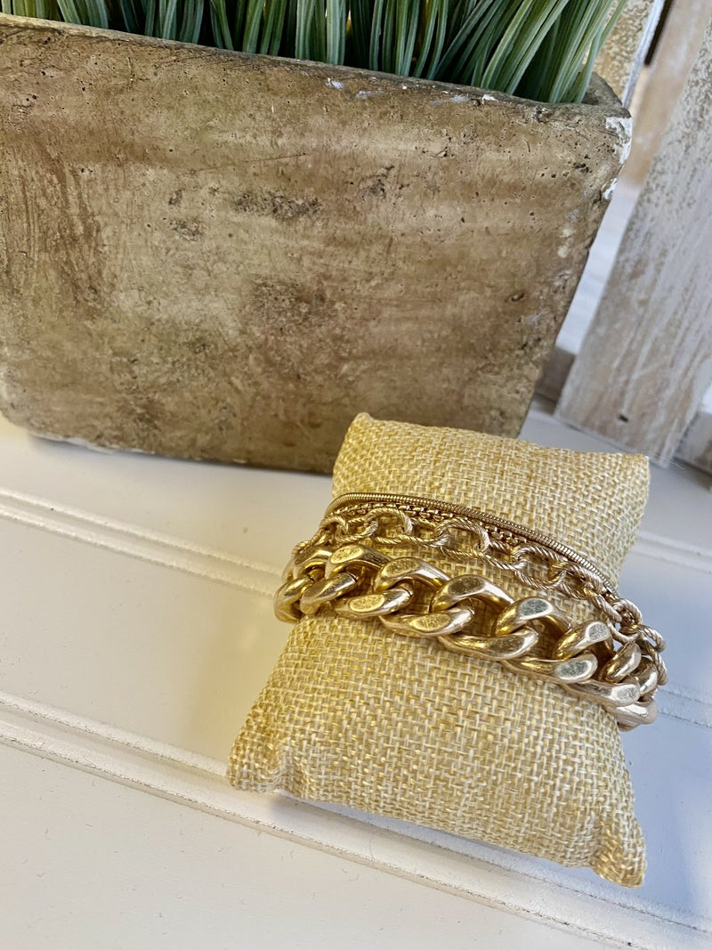 Gold Layered Chain Link Bracelet