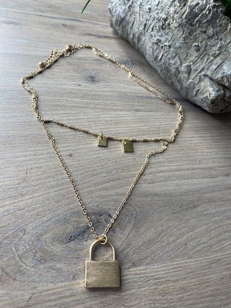 Goldie Lock 2 strand layered necklace