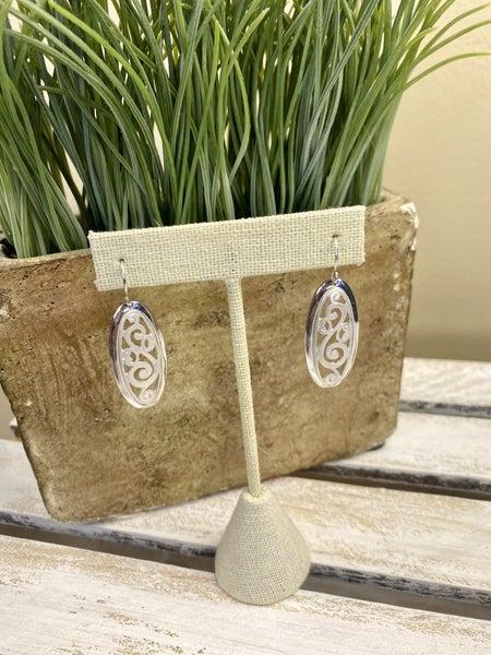 Oval Shaped filigree earring
