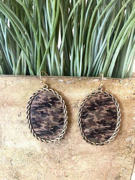 Camo earrings