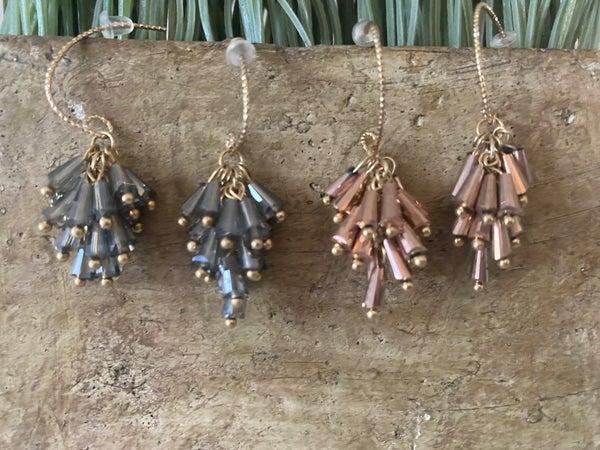 Deco beaded earrings