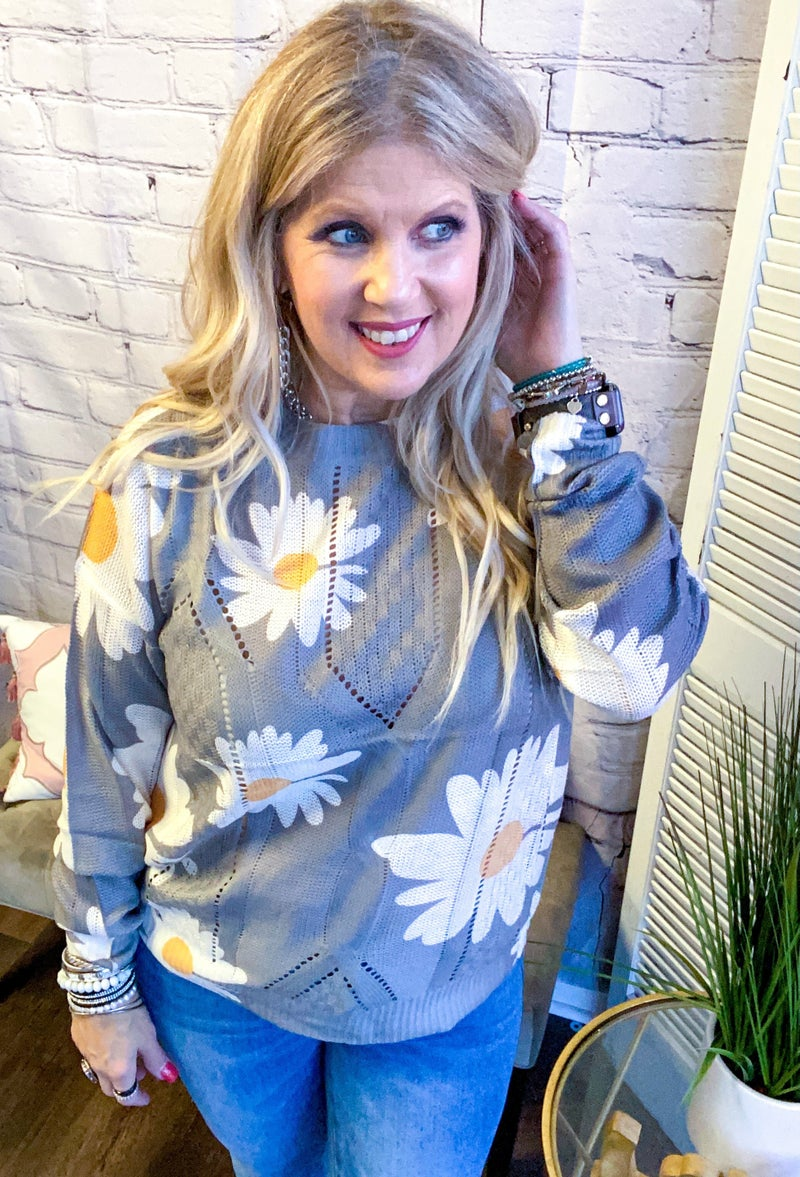 Coming Up Daisy Sweater