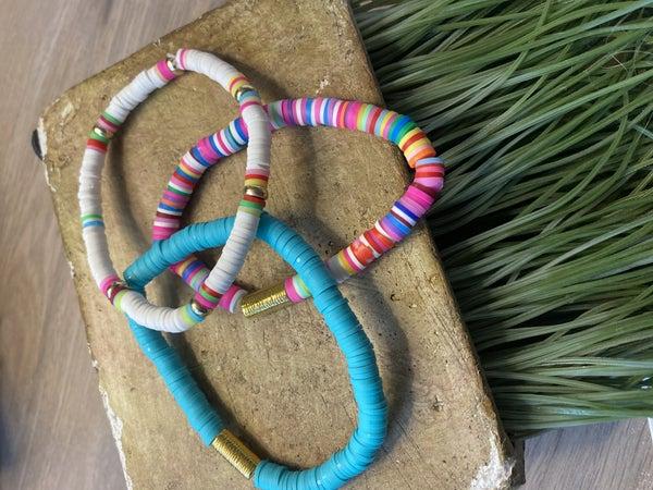 Summer Disc Stretch Bracelets