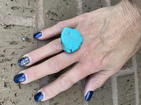 Stone slab adjustable rings