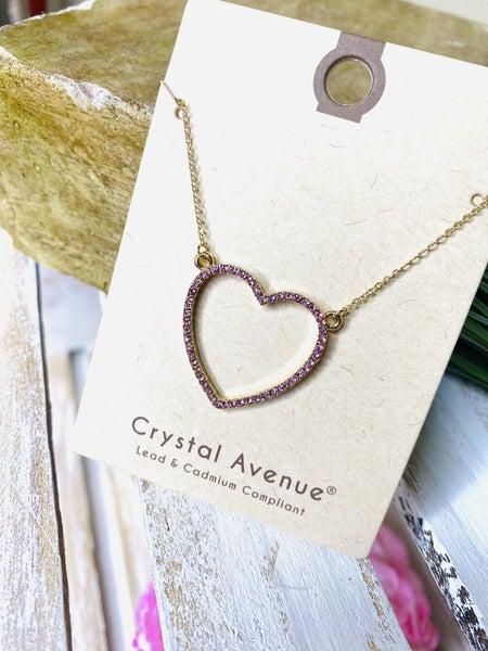 Blushing Heart Necklace