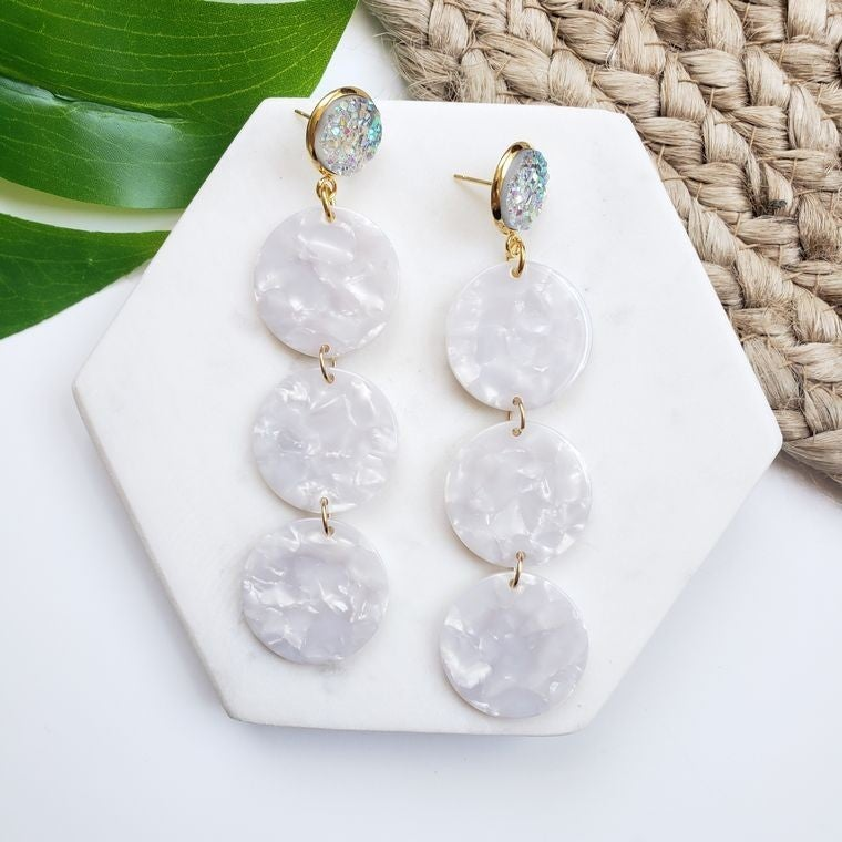 Pearly Ella Acrylic earrings
