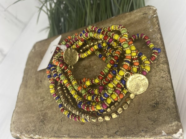 Caribbean stretch bracelet