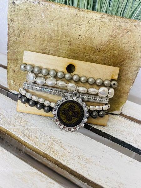 Silver Upcycled Stack Bracelet