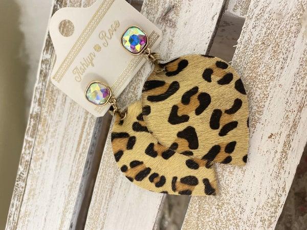 Glitter in the Wild Leopard earrings