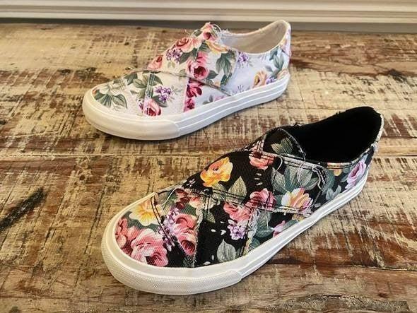 Floral Slip On Sneakers