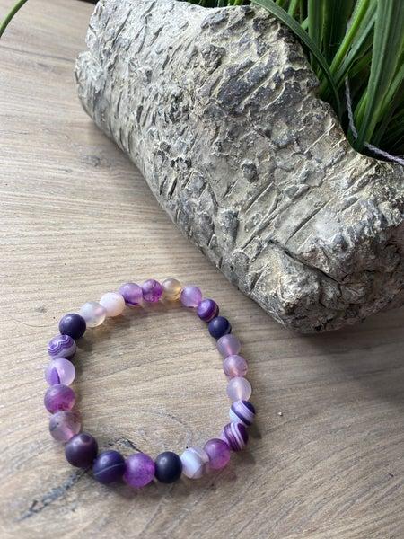 Purple Stone stretch bracelet