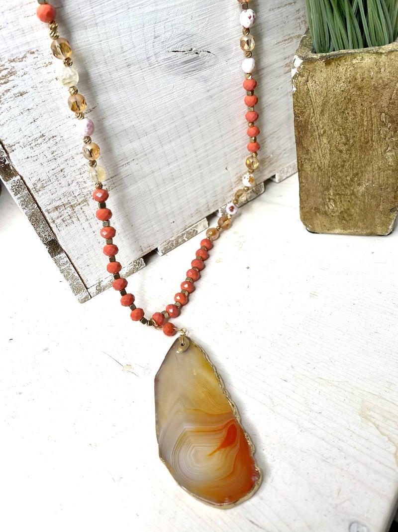 Coral Stone Pendant