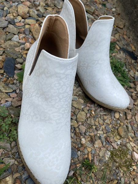White Leopard bootie by Corkys