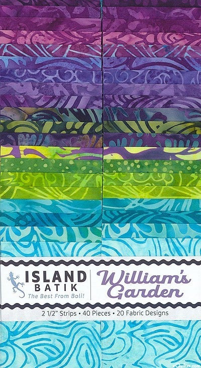 """William's Garden 2.5"""" strip set"""