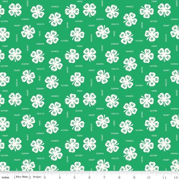 1 yd 4-H Clover Green