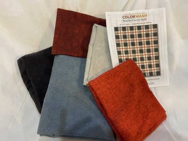 """Color Wash Woolies Quilt Kit 67"""" x 79"""""""